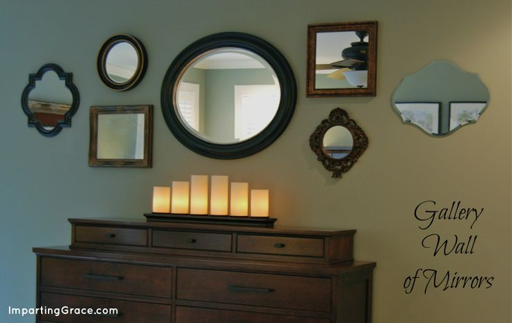 Gallery Wall of Mirrors via @Richella Parham of Imparting Grace