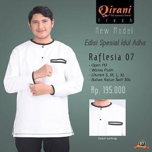 Baju Kemeja Pria Koko Qirani Raflesia 07 Putih
