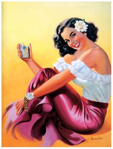 Mexican Calender Art - Vintage Illustration