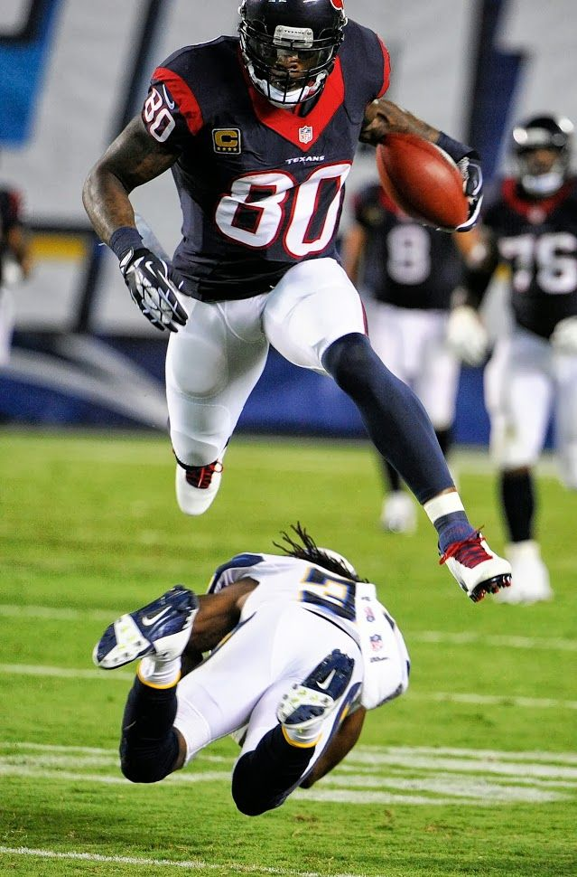 Houston Texans  wide receiver Andre Johnson i put andre johnson because he is one of my favorite texans player