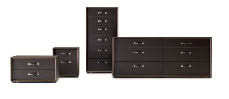 modern bedroom furniture - exquisite collection of leather and wood bedroom complements