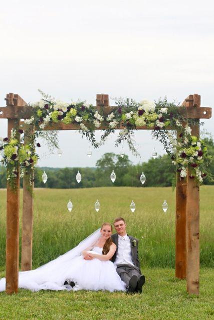 Decorating A Rustic Wood Arch For A Wedding Google Search Wedding Arbor Rustic Barn Wedding