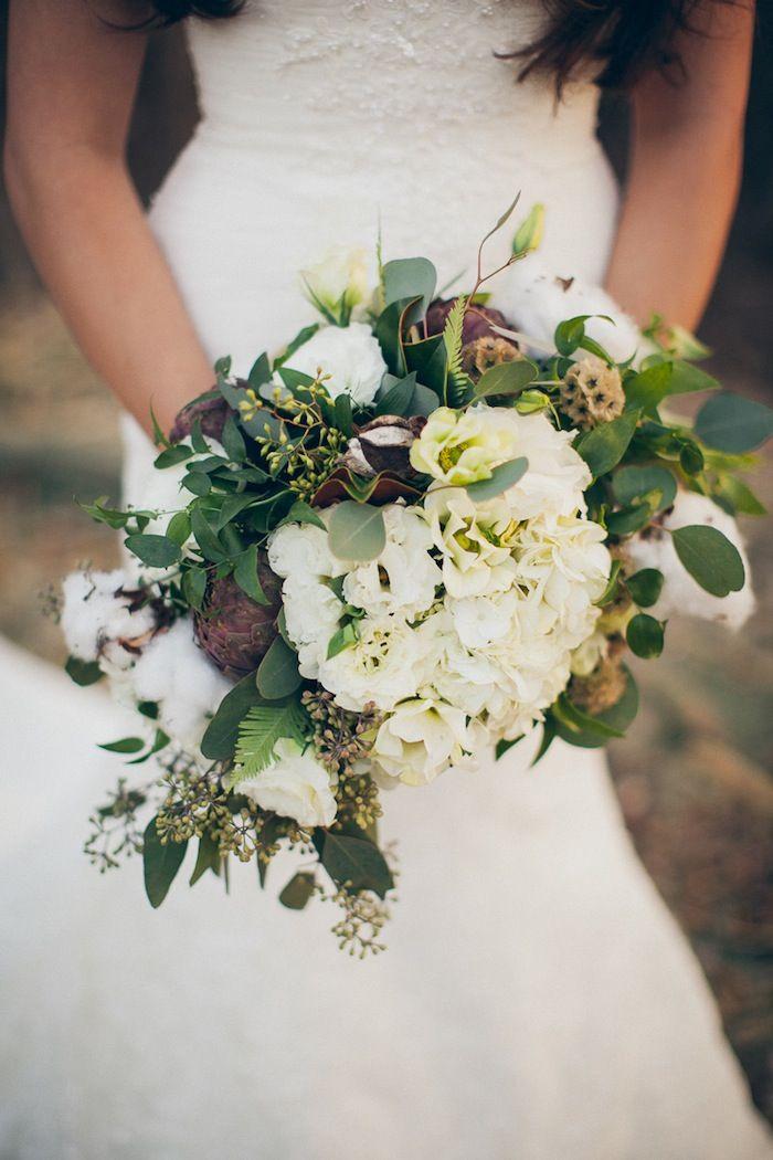 www.littlehillfloraldesigns.com Bridal bouquet, wedding flowers, hydrangea, lisianthus, roses, eucalyptus, sword fern, scabiosa.