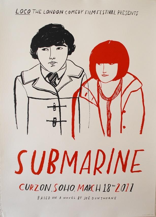 Submarine (2011) poster by Lizzy Stewart.