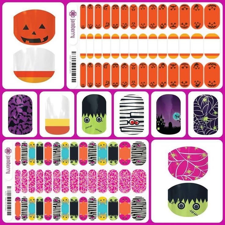 halloween jamberry nails jacks u0026 corn candy corn monsters u0026 webs webtastic