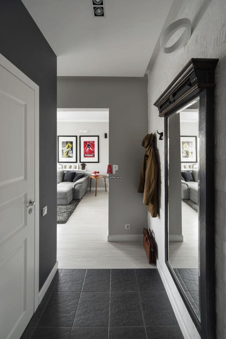 Фото интерьера входной зоны небольшой квартиры в современном стиле Фото…