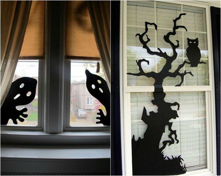 bricolage facile déco fenêtre avec des dessins splendides