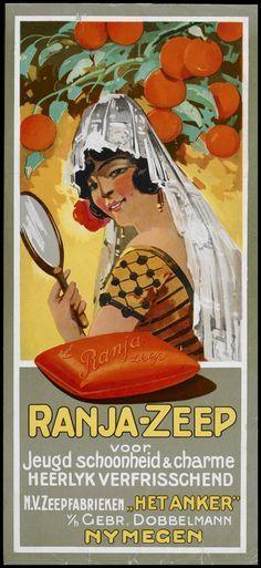 Ranja Soap Dutch Poster  - Ranja zeep, voor jeugd, schoonheid en charme! Dobbelman, Nijmegen. ca. 1914-1930.
