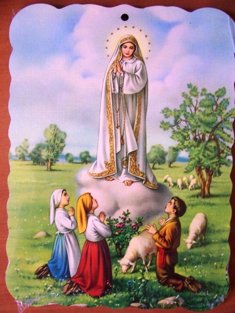 Maria van Fatima met de 3 herdertjes