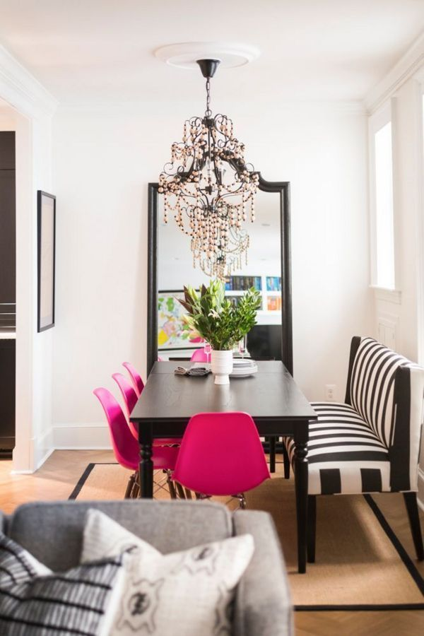 Hot.Pink.Dining.Chairs. Love it!