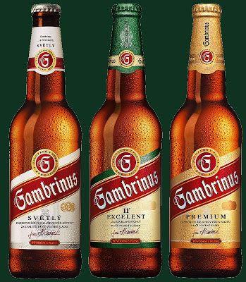 The world-renown Czech beers (pivo): Gambrinus