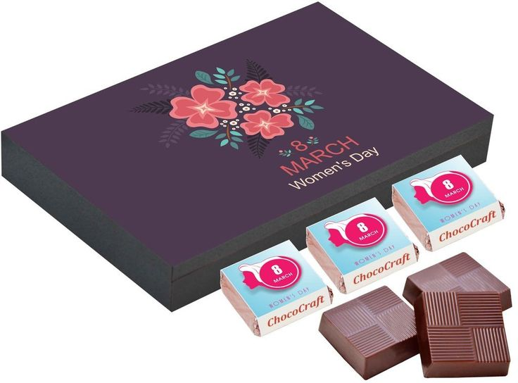 Women's day gift online   Customised chocolate gifts