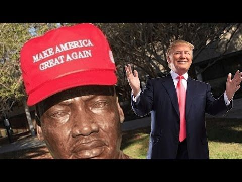 Donald Trump Hat On Martin Luther King Jr Statue @Hodgetwins - http://bestnewsarchive.ca/donald-trump-hat-on-martin-luther-king-jr-statue-hodgetwins/