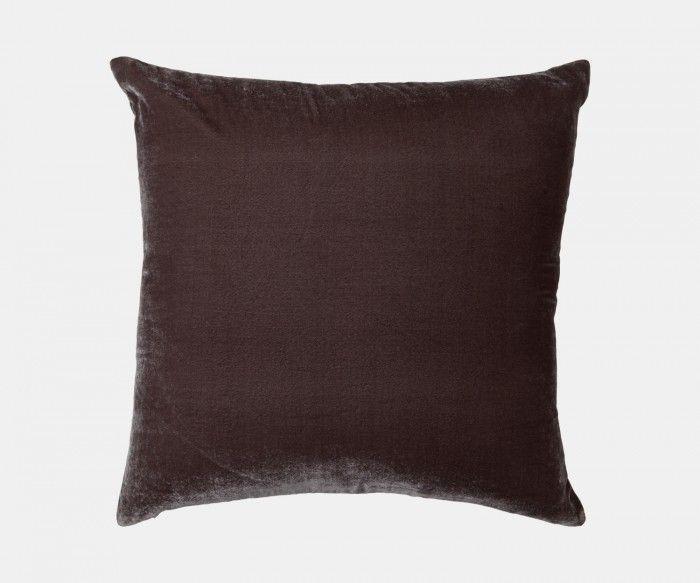 Paddy Velvet - Charcoal Cushion   William Yeoward