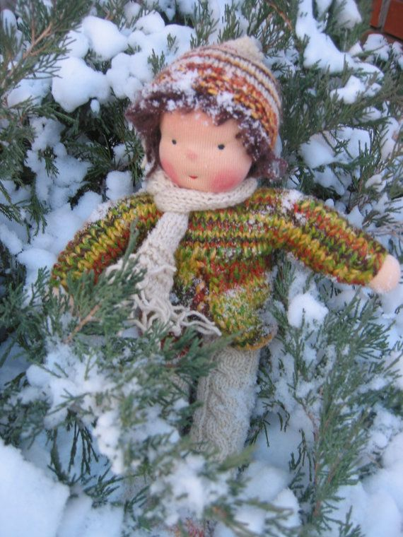 Crochet Knit Stitch Waldorf : Waldorf type knitted Boy Waldorf dolls Pinterest