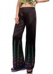 High Waist Solid Black Flare Pants on sale only US$24.01 now, buy cheap High Waist Solid Black Flare Pants at lulugal.com