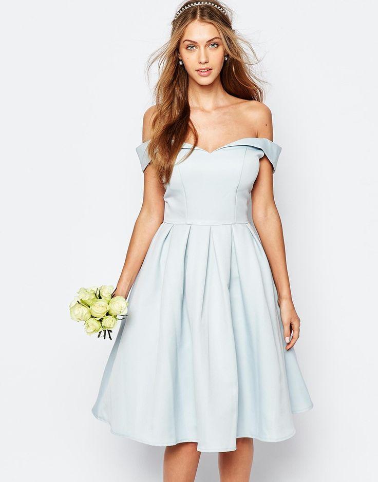 Asos robe de bal bleu
