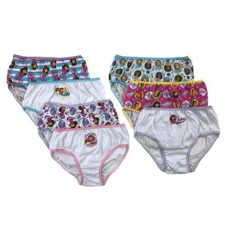 Nickelodeon Girls' Dora the Explorer Panties, 7-Pack, Girl's, Size: 4, Assorted