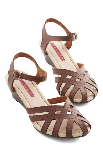 Brownie Bakery Sandal. Flaunt these strappy wedge sandals for the opening of your specialty shop! #brownNaN