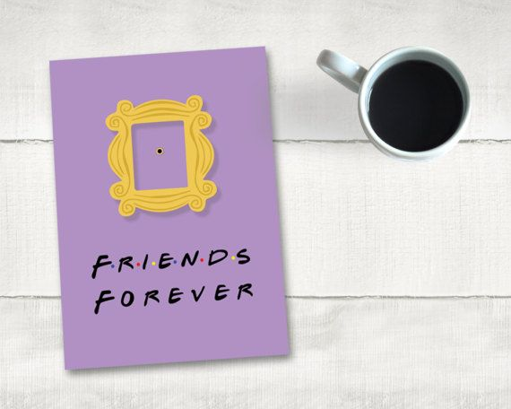 Greeting Card Printable Friends Monica's by dlcCreativeSolutions