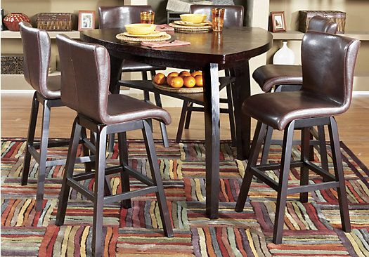 rooms to go dining room table | Shop for a Noah 7 Pc Pub Diningroom at Rooms To Go. Find ...