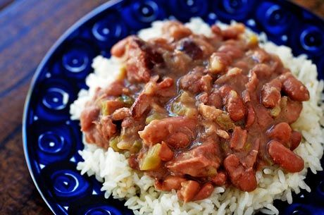 red beans & rice: New Orleans, Rice Recipes, Louisiana Recipes, Red Beans, Front Doors, Beans Recipes, Mr. Beans, Green Onions, Cajun Food