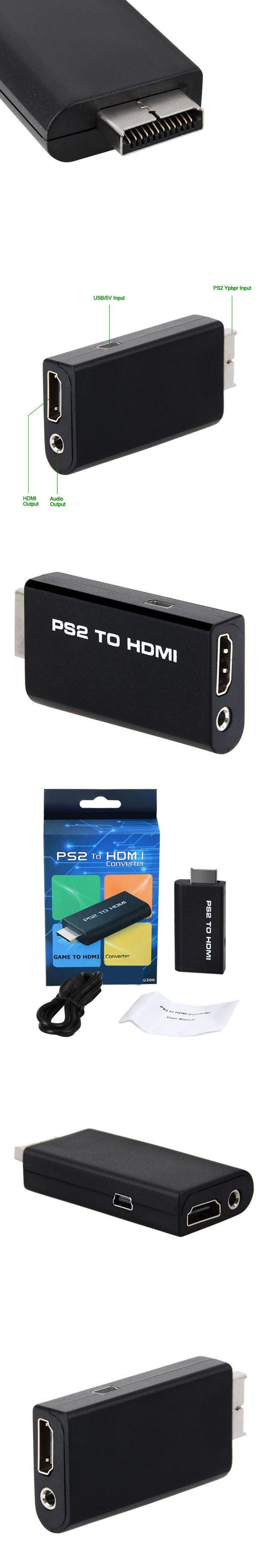 PS2 to HDMI Audio Video Converter Adapter with 3 5mm Stere Audio Output Monitor