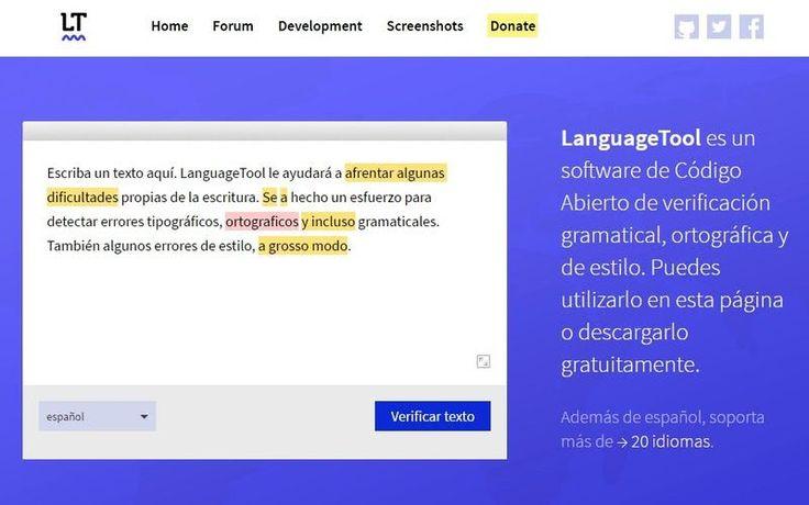 LanguageTool es una herramienta web gratuita para comprobar la ortografía, gramática y estilo de un texto en más de 20 idiomas diferentes.