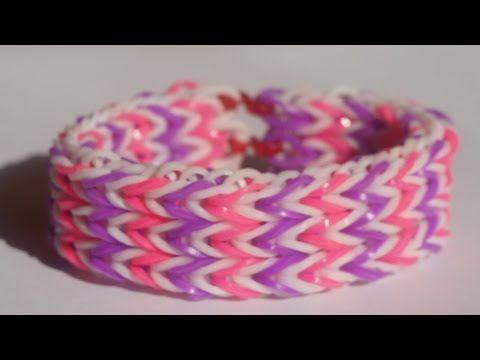 【レインボールーム】トリプルフィッシュテイルブレスレットの編み方・作り方 - YouTube