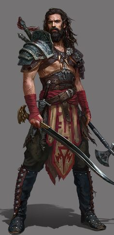 m Ranger med Armor Swords Axe midlvl Great barbarian costume idea