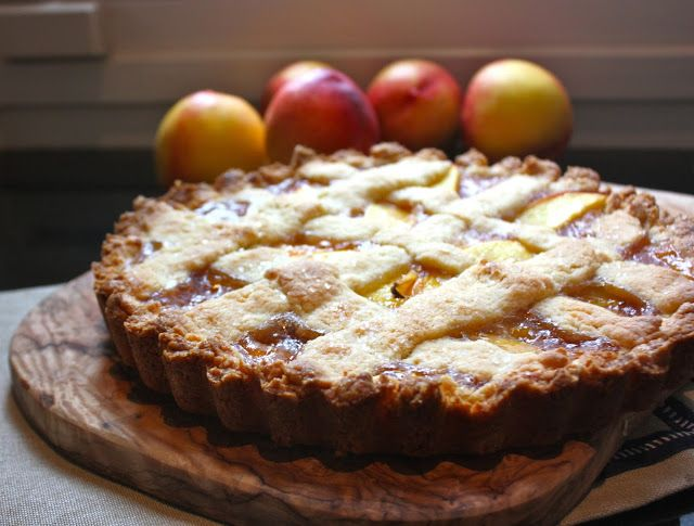 Authentic Italian peach crostata. Use up the last of your summer peaches with this wonderful recipe!