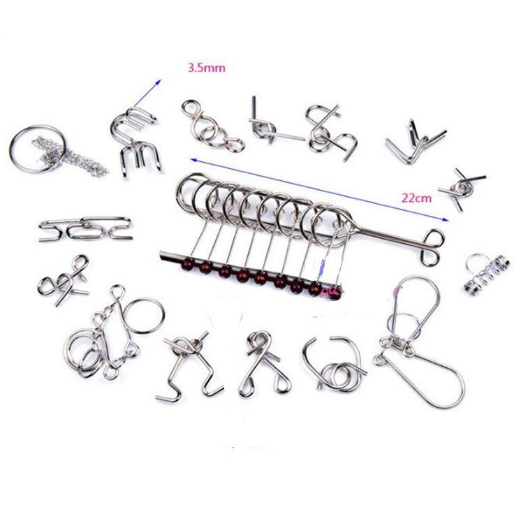 22 best iq test toys mind game brain teaser metal wire