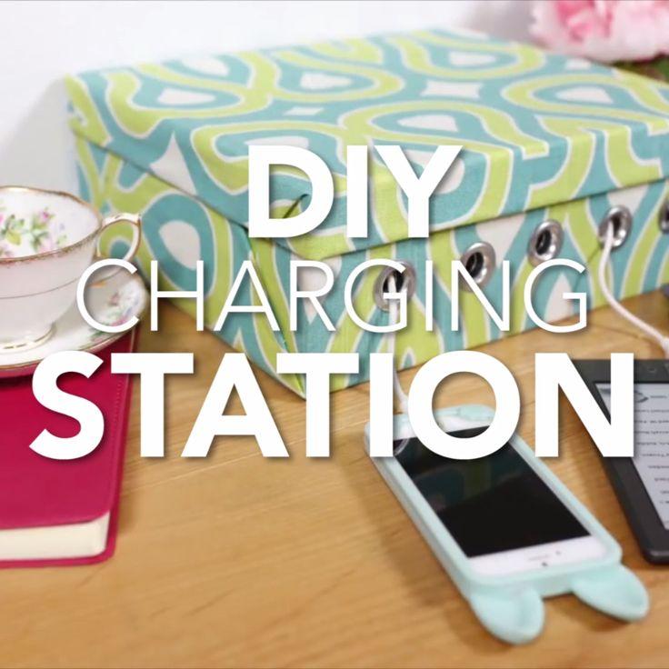 DIY Charging Station Computer Room DecorComputer