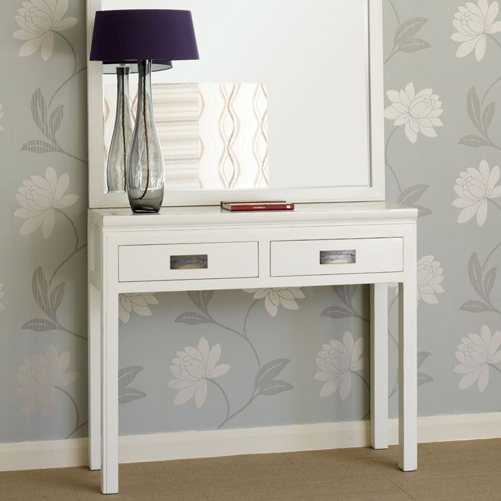 white laquer furniture. White Lacquer Oriental Style Console With Two Drawers #ChineseFurniture # Laquer Furniture R