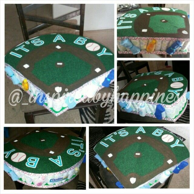 Baseball diaper cake #boydiapercake