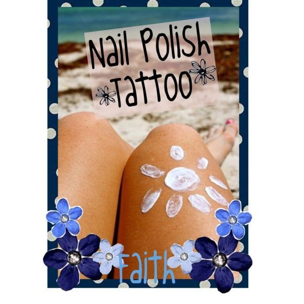 How to get a nail polish tan tattoo.