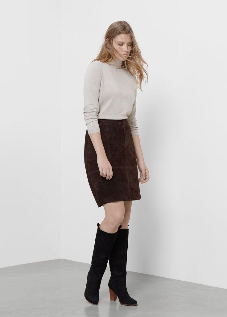 Midi Suede Skirt Suede Skirt