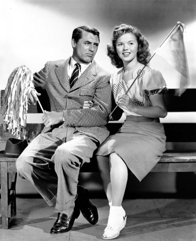 Cary Grant & Shirley Temple in The Bachelor and the Bobby-Soxer (1947)…