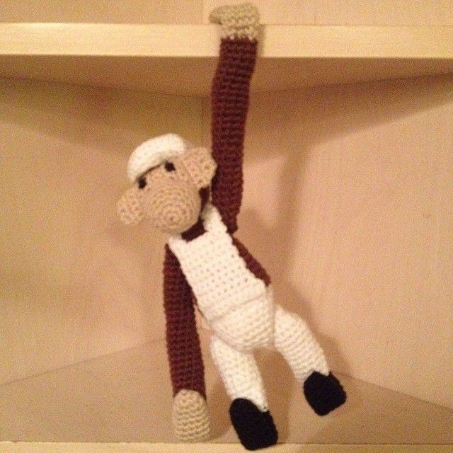 En abe til en svigersøn  #hækle#hæklet#hækletlegetøj#murer - aasehougaard