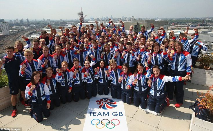 2012, August, London Olympics : Team GB, medal winners - gold, silver and bronze.
