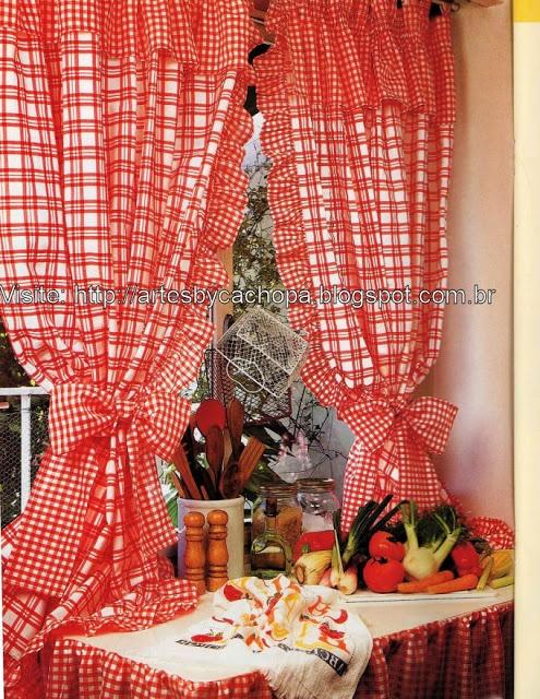 73 best images about cortinas con apliques para cocina - Cortinas de cocinas ...