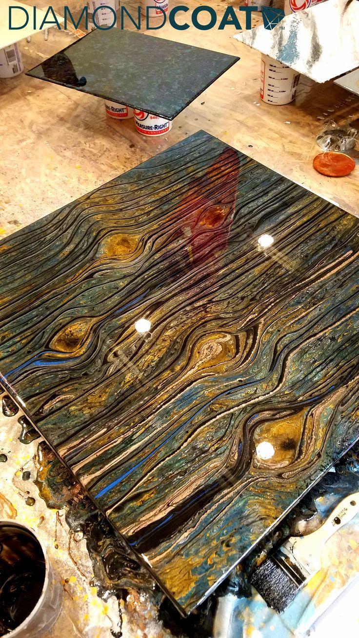 Dieser Epoxidholzmaserungseffekt Ist Nur Eine Der In 2020 C Tisch Holz Harz Mobel