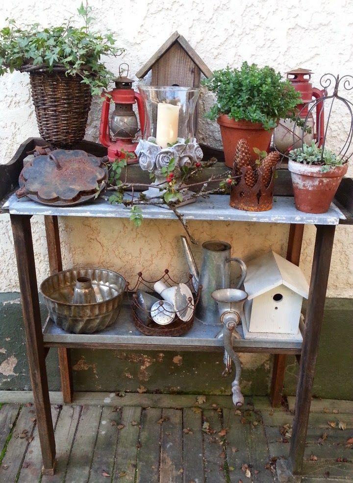 Gartengestaltung Tisch Garten