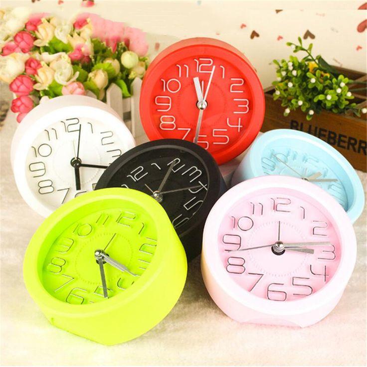 Alarma Digital De Silencio De Plástico Reloj Con Tempoizado De DecoC.Aión De Escritoio Red Reloj