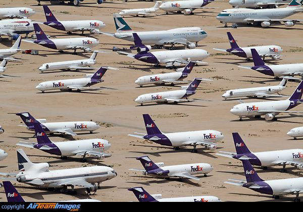 A large part of the aircraft stored in Victorville are ex-Fedex ...