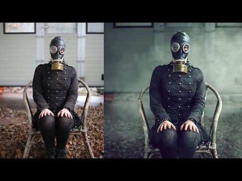 Urbex Style Smoke Photo Effects Photoshop Tutorial Editing - YouTube