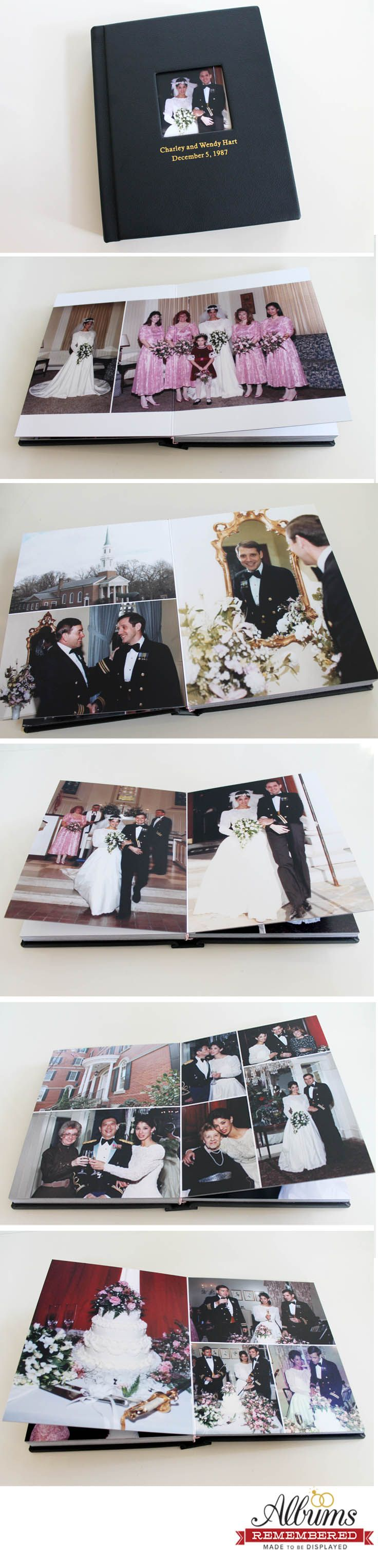 example0th wedding anniversary newspaper announcements%0A A beautiful anniversary gift  Remake the wedding album using vintage photos