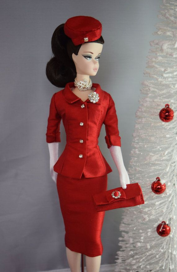 Silkstone Barbie Fashion Suited for Christmas by ShhDollWorks - sold