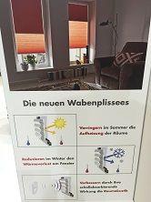 #Wabenplissees  Coole Sache – Perfektes Wohlfühlklima #Wabenplissee #Faltstore #Sonnenschutz #Verdunkelung #Jalousie #Rollo Eine Klimazone mit Luftpolster sorgt dafür, dass die Hitze nicht in die Innenräume dringt. Live in Aktion zum Ausprobieren in unserer Ausstellung. Tolle neue Kollektion.  Für #Wiesbaden #Hochheim #Hofheim #Niedernhausen #Flörsheim #Kriftel & das #Rheingau vom #Fachbetrieb mit eigenem geschultem Montagepersonal und schöner Ausstellung zum ausprobieren…