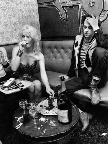 Boomtown Rats on Tour. Bob Geldof and Girlfriend Paula Yates. October 1979 Photographic Print